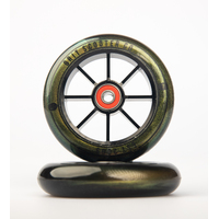 Alloy 110mm Wheels - Gold Urethane with Black Core (pair)